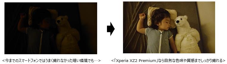 今までのスマートフォンではうまく撮れなかった暗い環境でも...「Xperia XZ2 Premium」なら自然な色味や質感までしっかり撮れる